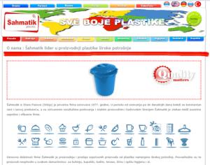 Veb dizajn sahmatik plastika sa katalogom proizvoda
