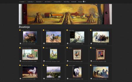 Slikarski atelje sa prodajnom galerijom slika